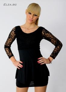 Черна дантелена рокля !