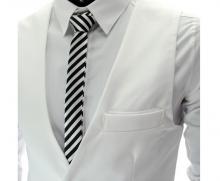 Спортно-елегантен мъжки елек Бял