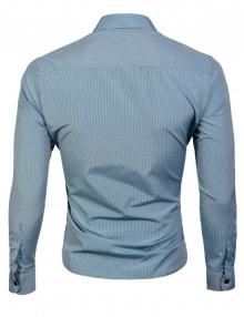 Синьо райе официална мъжка риза