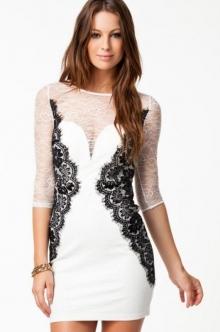 "Стилна дамска бяла рокла ""Елма"" Нов модел"