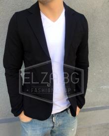 Спортно-елегантно сако черно TOP MODEL