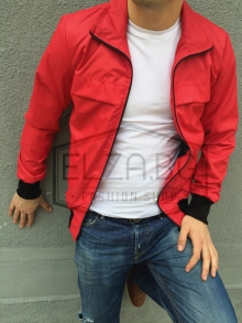 """Колекция мъжки якета пролетно-лятно яке """"Спирит"""" - Червено"""