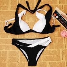 Черно бял бански модел лято 2018г