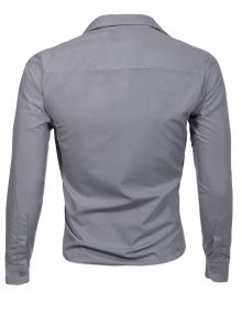Луксозна Светло сива мъжка риза Втален модел ПРОМО !