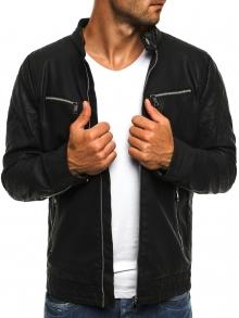 Мъжко яке качествена еко - кожа Дио - черно