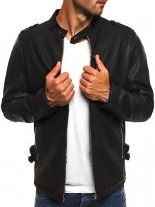 Мъжко яке качествена еко - кожа Макс - черно