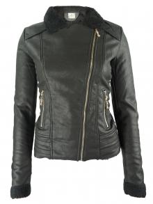 Дамско яке с топла подплата колекция 2016 - черно