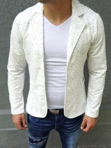 Спортно-елегантно сако бяло НОВ МОДЕЛ