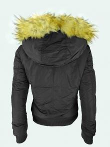 НОВ Модел дамско яке с пух - черен