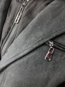 """Мъжки балтон с кожени кръпки на лактите """"Фауст"""" - сив"""