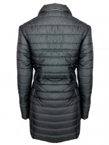 """Дълго дамско яке със сваляема качулка с пух """"Елви"""" - черно"""