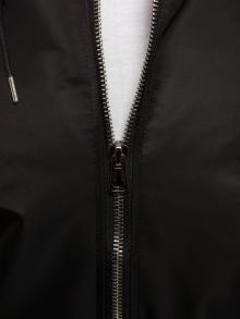 Пролетно мъжко яке тип Bomber с качулка - Черно