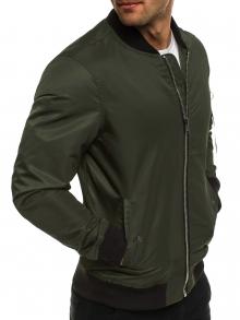 Пролетно мъжко яке тип Bomber - Маслено зелено