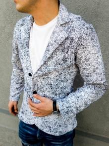 Спортно елегантно мъжко сако черно и бяло