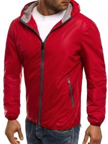 Пролетно яке с изчистен, класически дизайн - червено