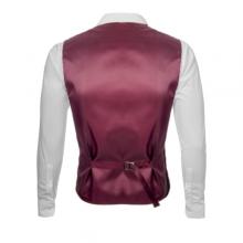 Стилен мъжки елек с кърпичка - бордо