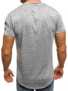 """Мъжка тениска """"Free Time"""" - сива"""