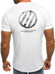 """Мъжка тениска """"Unknown"""" - бяла"""