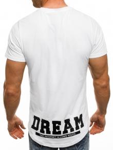 """Мъжка тениска """"Free Time 2"""" - бяла"""