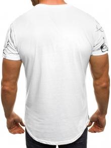 """Мъжка тениска """"W"""" - бяла"""