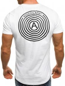 Мъжка тениска Army - бяла