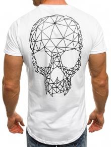 Мъжка тениска ''Skull'' - бяла