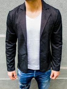 Спортно-елегантно сако с черно-бяла шарка