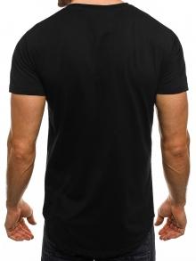 Мъжка тениска Gution&Oarment - черна