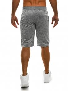 Мъжки шорти SHOW - светло сиви