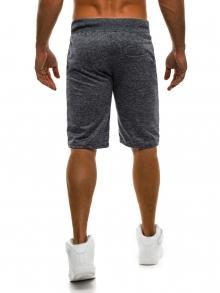 ПРОМО! Мъжки шорти SHOW - тъмно сиви