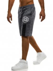 Мъжки шорти Exam - тъмно сиви