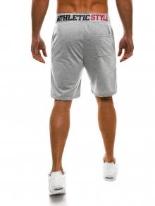 Мъжки шорти Athletic Style - светло сиви