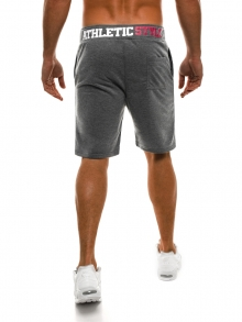 Мъжки шорти Athletic Style - тъмно сиви