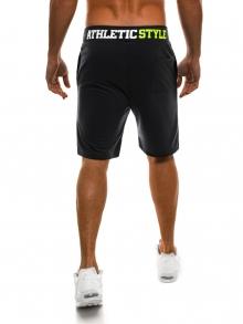 Мъжки шорти Athletic Style - черни