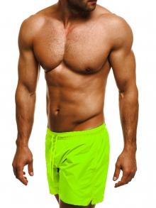 Мъжки шорти лято 2019 - електриково зелени