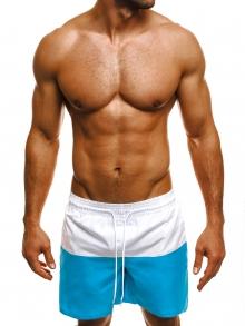 Двуцветни мъжки шорти лято 2019 - синьо и бяло