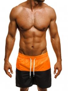 Двуцветни мъжки шорти лято 2018 - оранжево и черно