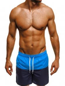Двуцветни мъжки шорти лято 2019 - синьо и тъмно синьо