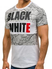 Мъжка тениска ''Норис'' - бяла