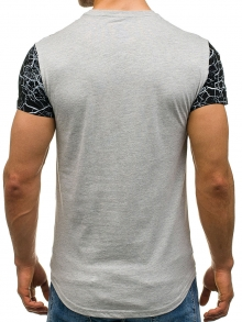 Мъжка тениска ''Норис'' - сива
