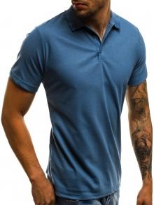 Мъжка тениска тип ''Polo'' - тъмно синя