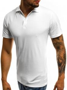 Мъжка тениска тип ''Polo'' - бяла