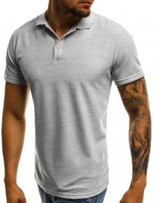 Мъжка тениска тип ''Polo'' - сива