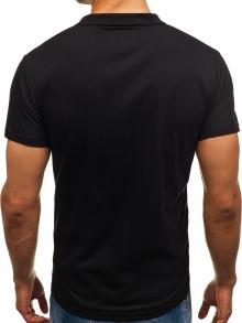 Мъжка тениска тип ''Polo'' - черна