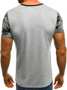 Мъжка тениска ''Record'' - тъмно сива