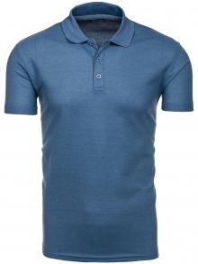 Мъжка тениска тип ''Polo'' - светло синя