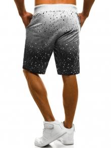 Мъжки шорти ''Ombre'' - светло сиви