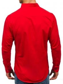 Нов модел мъжка риза с по три копчета - червена