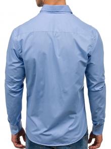 Нов модел мъжка риза Светло синя 2018