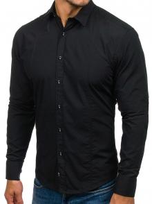 Нов модел мъжка риза Черна 2021
